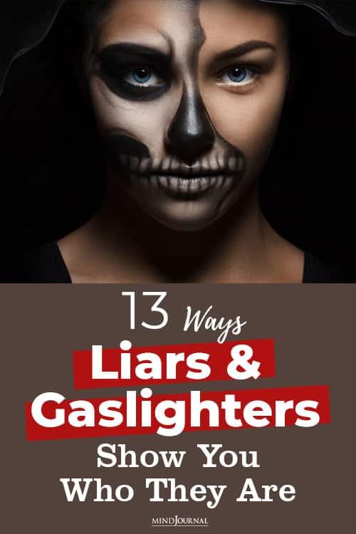 Ways Liars Gaslighters Cheats pin