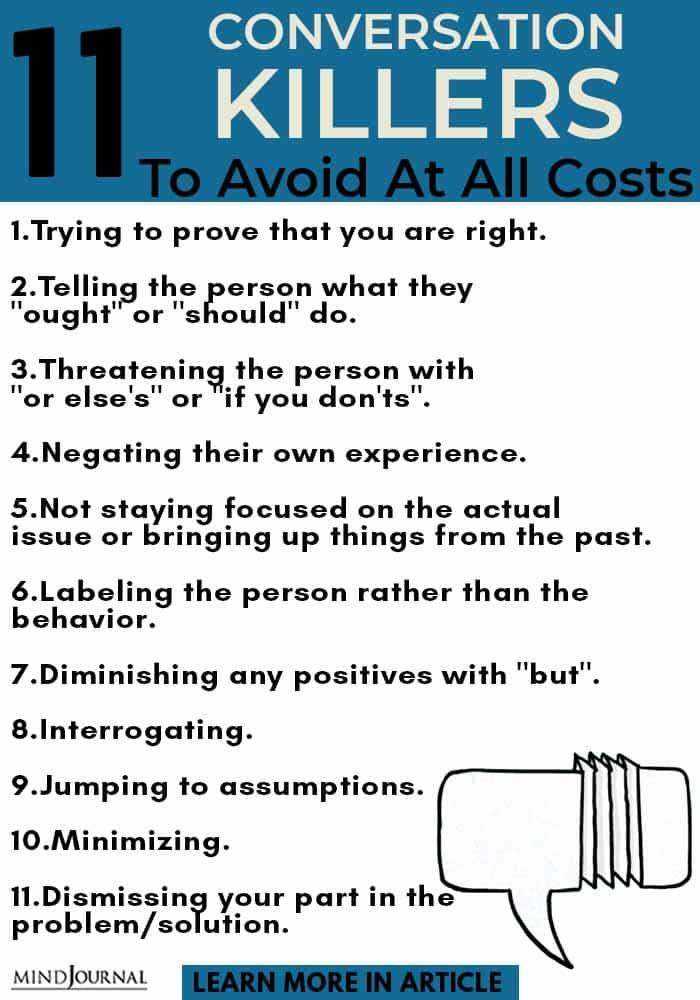 conversation killers avoid Costs info