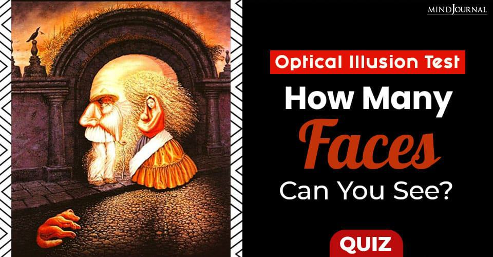 optical illusion Faces Can You See
