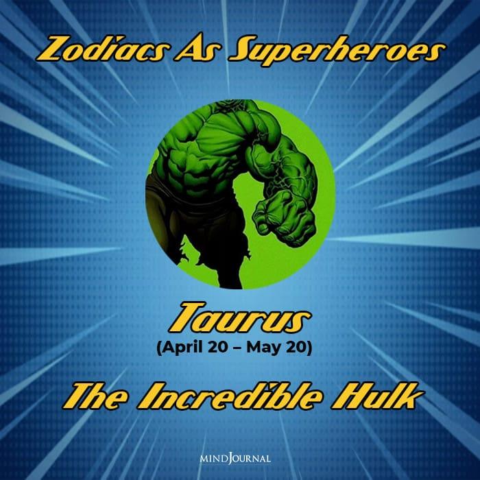 Zodiac Signs As Superhero taurus