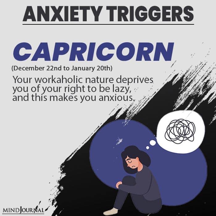 triggers anxiety capricorn