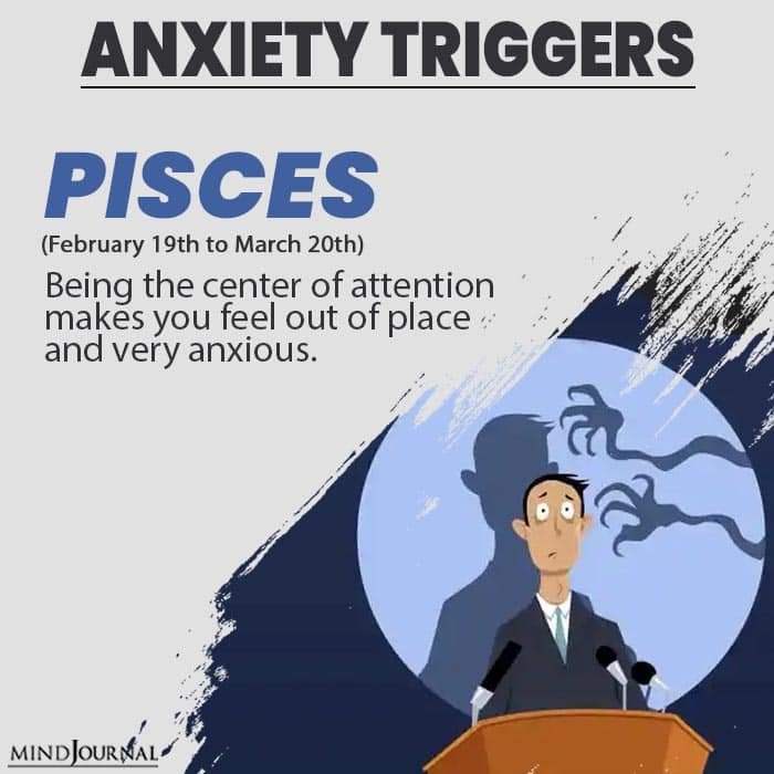 triggers anxiety pisces