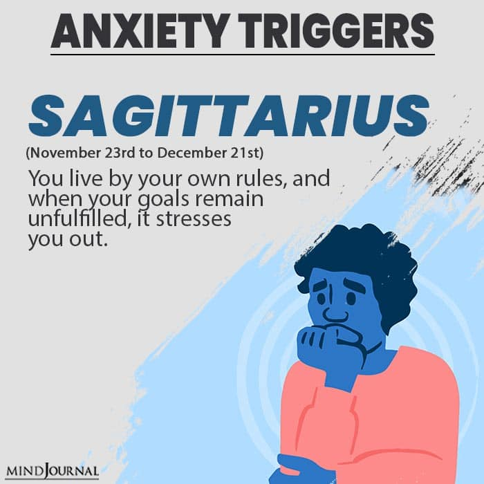 triggers anxiety sagittarius