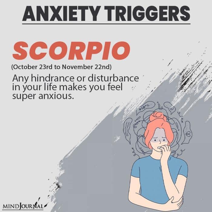 triggers anxiety scorpio