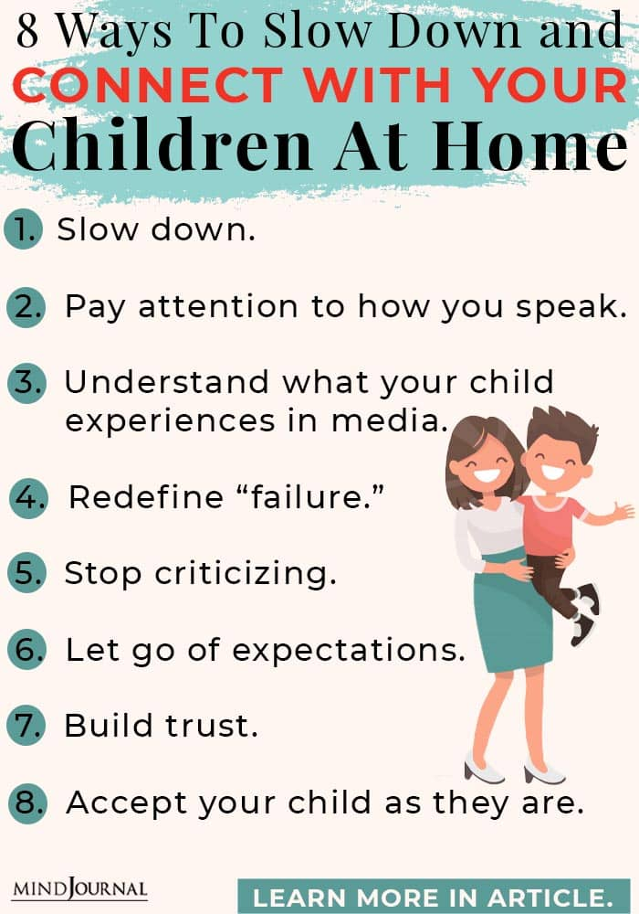 8 Ways To Slow Down and Connect With Your Children At Home Info