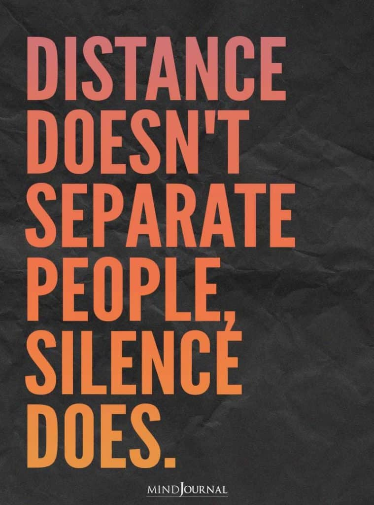 Distance doesn't separate people.