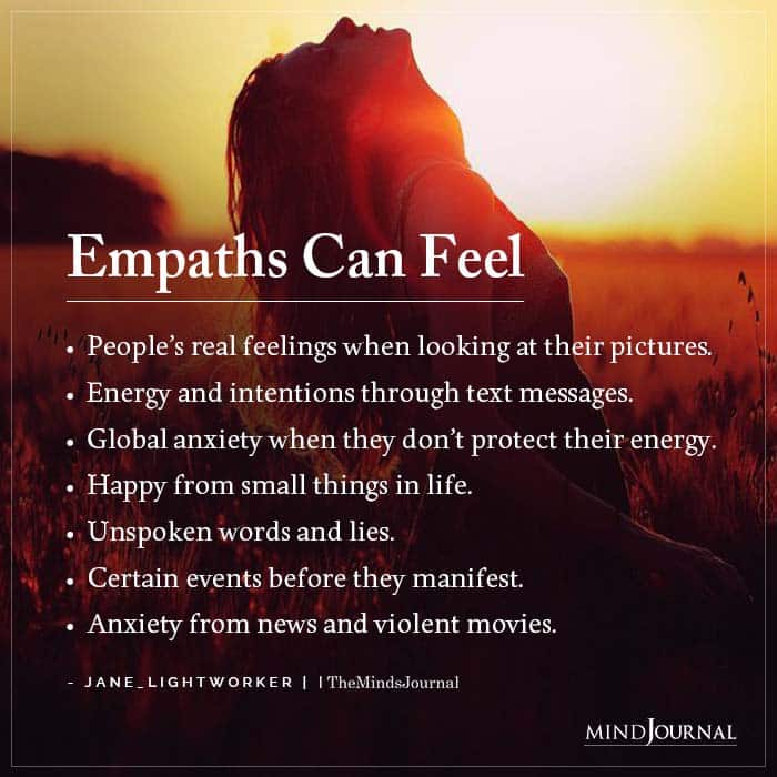 Empaths Can Feel