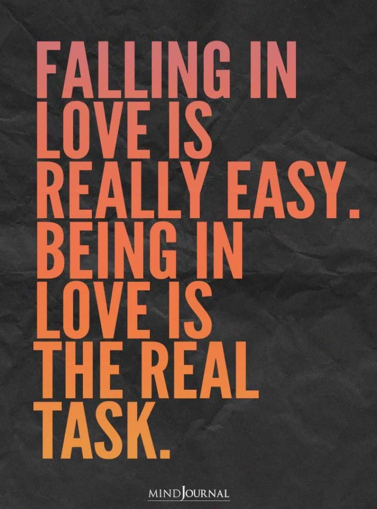 Falling in love is really easy.