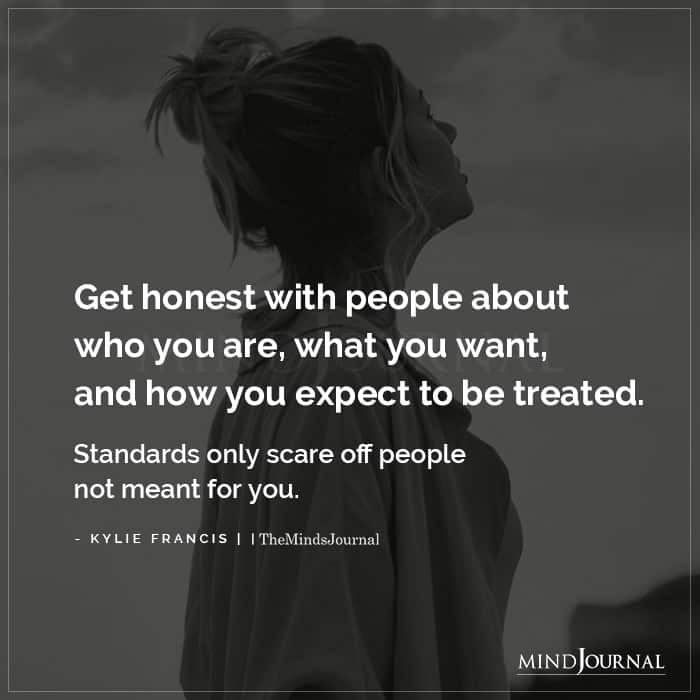 Get Honest With People About Who You Are