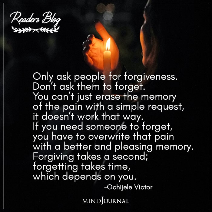 Only Ask People For Forgiveness