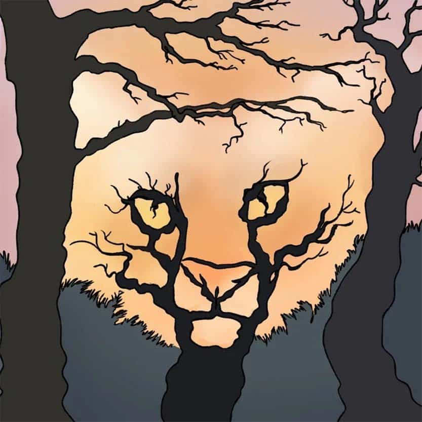 Optical Illusion Tiger Trees