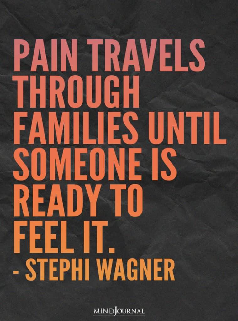 Pain travels through families.