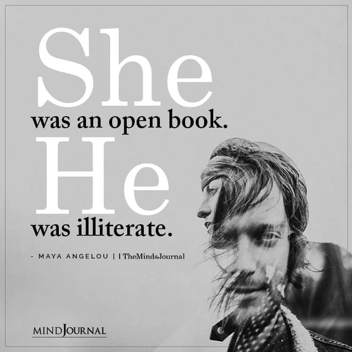 She Was An Open Book He Was Illiterate