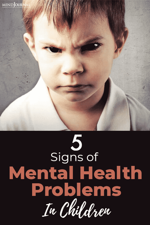 Signs Mental Health Problems Children pin