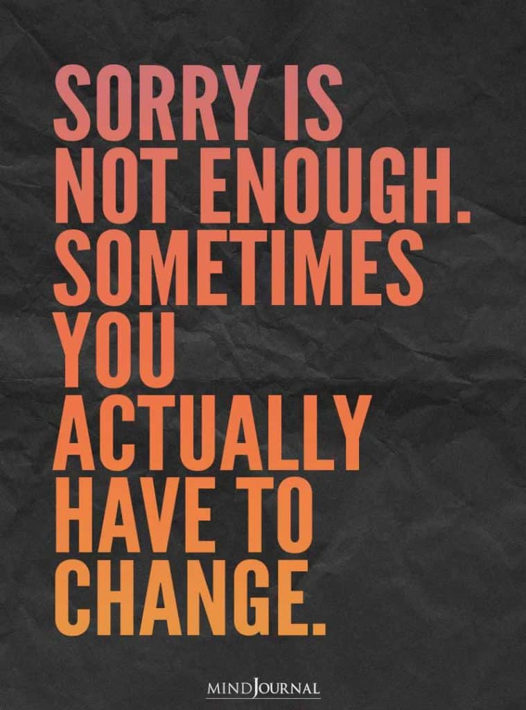 Sorry is not enough.