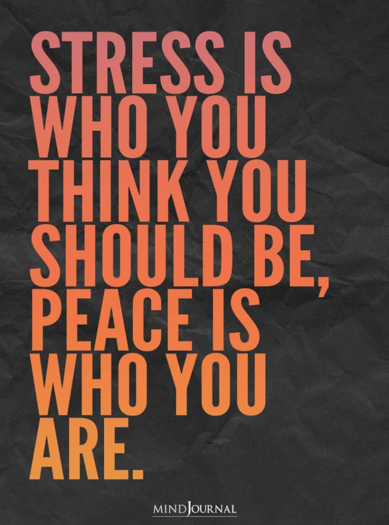 Stress Us Who You Think You Should Be.