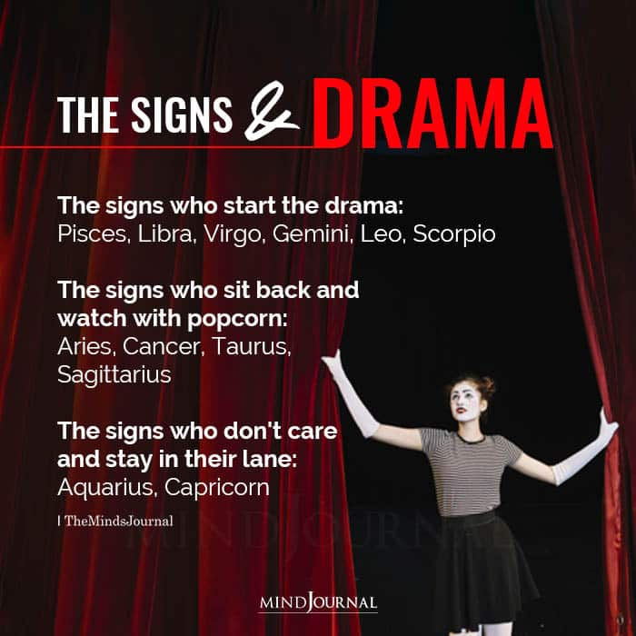 The Zodiac Signs And Drama
