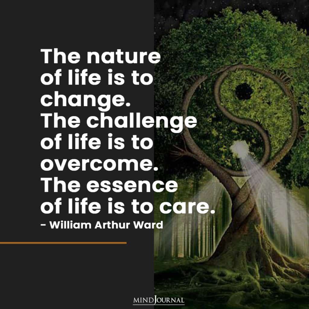 The nature of life is to change.