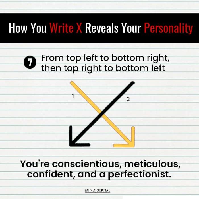 Write X Reveals Something Personality confident