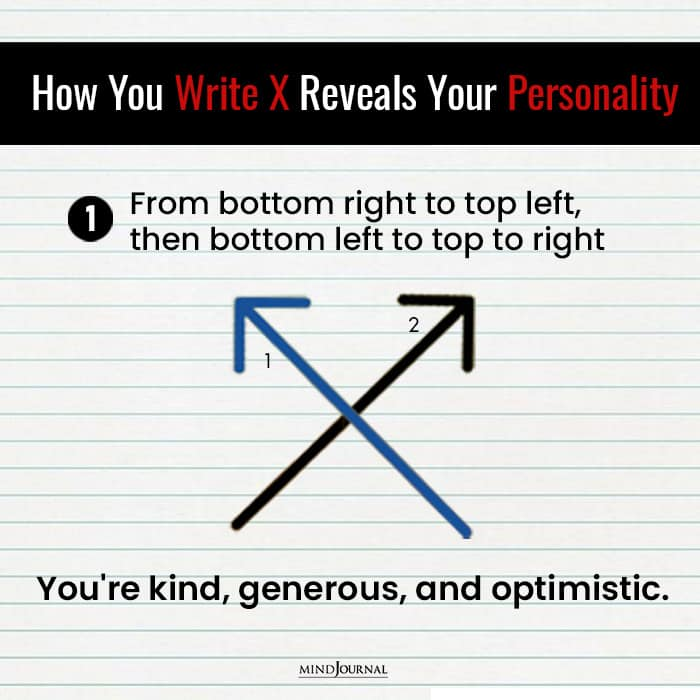 Write X Reveals Something Personality kind genorous