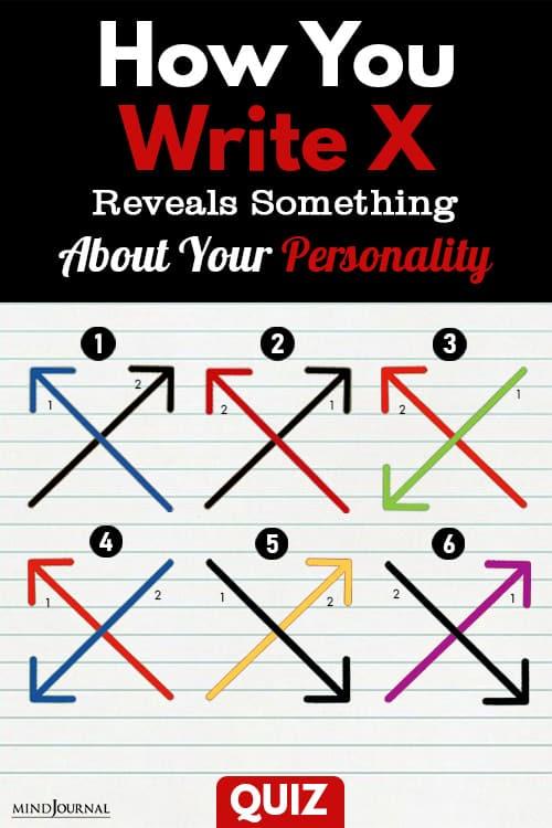 Write X Reveals Something Personality pin