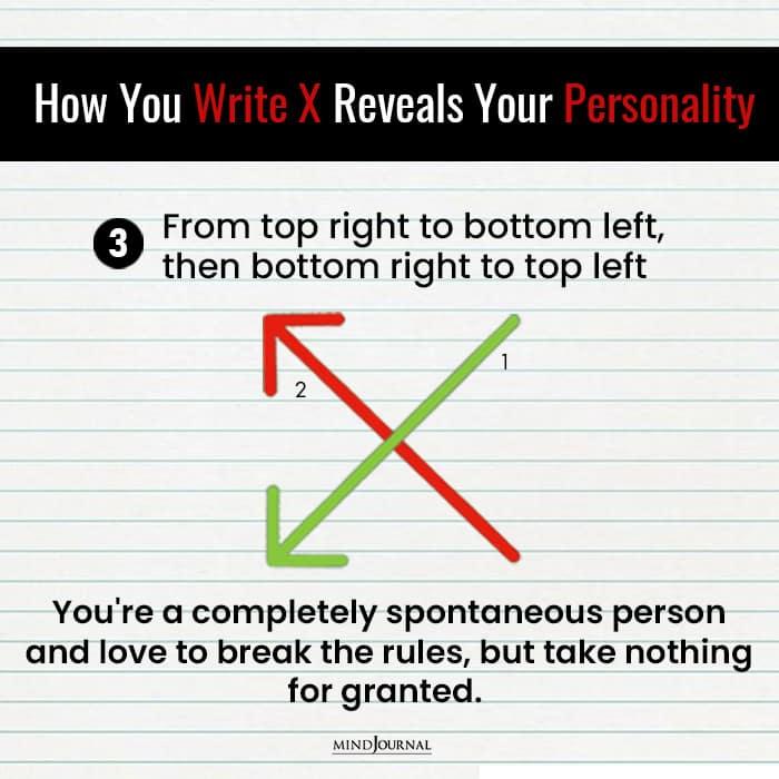 Write X Reveals Something Personality spontaneous