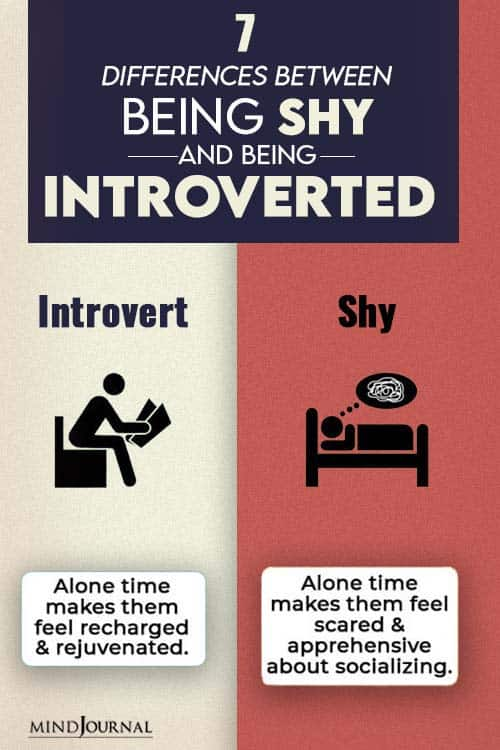 differences between shy and introvert pin