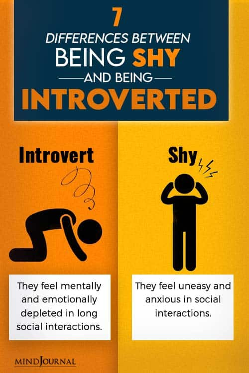 differences between shy and normal people pin