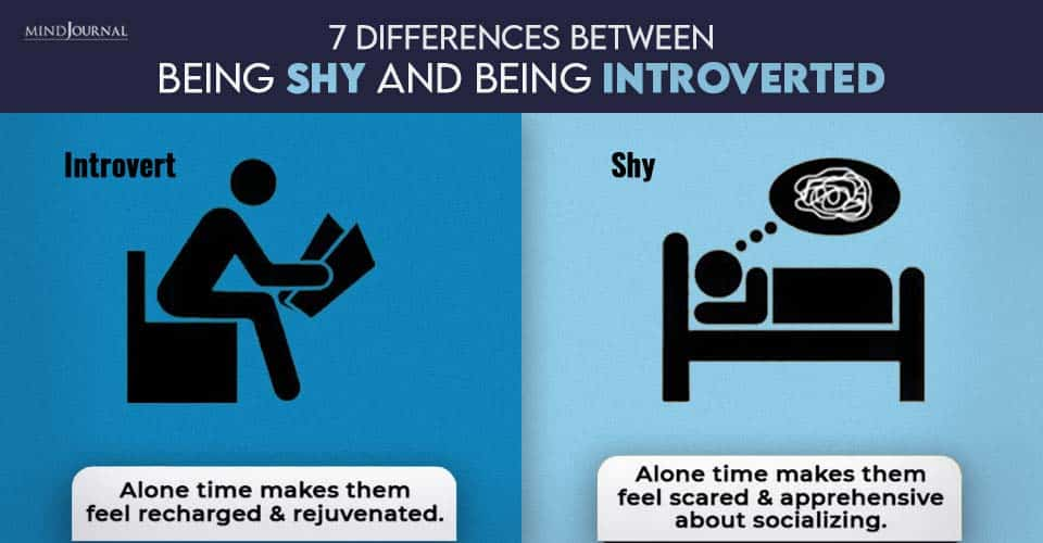 differences between shy and normal people