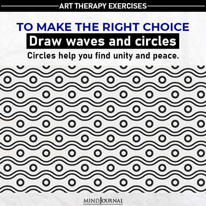 draw waves and circle