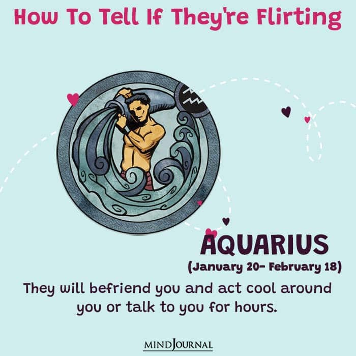 how to tell if they are flirting aquarius
