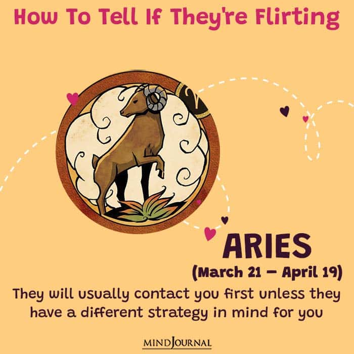 how to tell if they are flirting aries