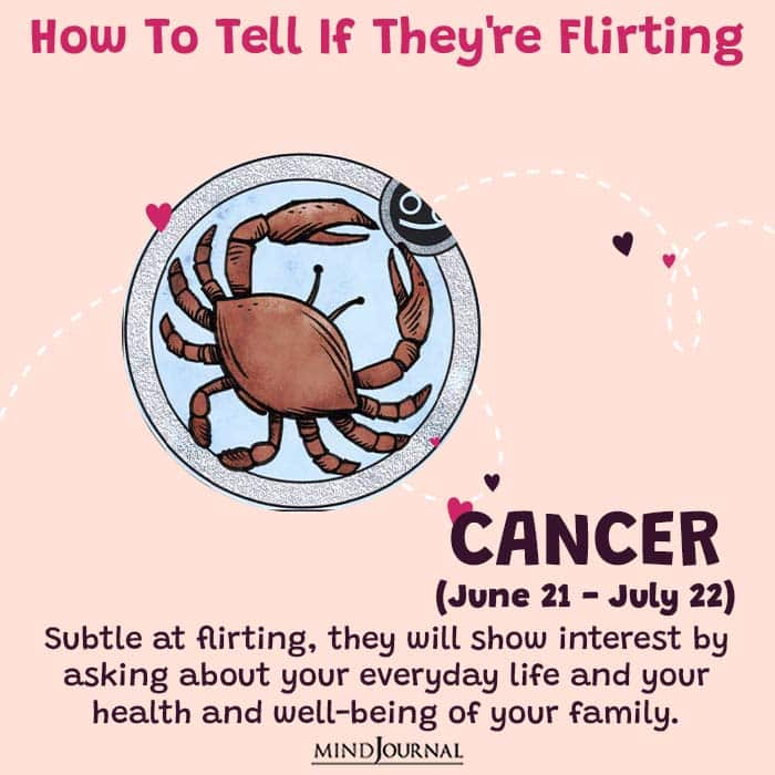 how to tell if they are flirting cancer