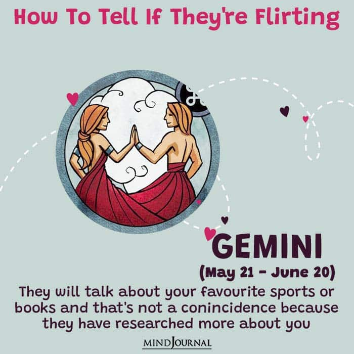 how to tell if they are flirting gemini