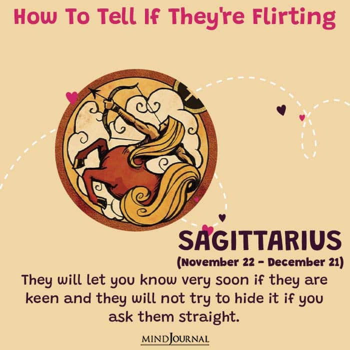 how to tell if they are flirting sagittarius