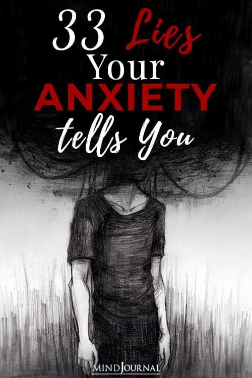 lies anxiety tells you pin