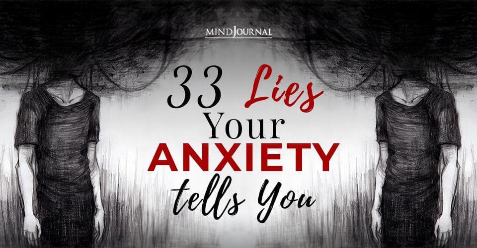 lies anxiety tells you