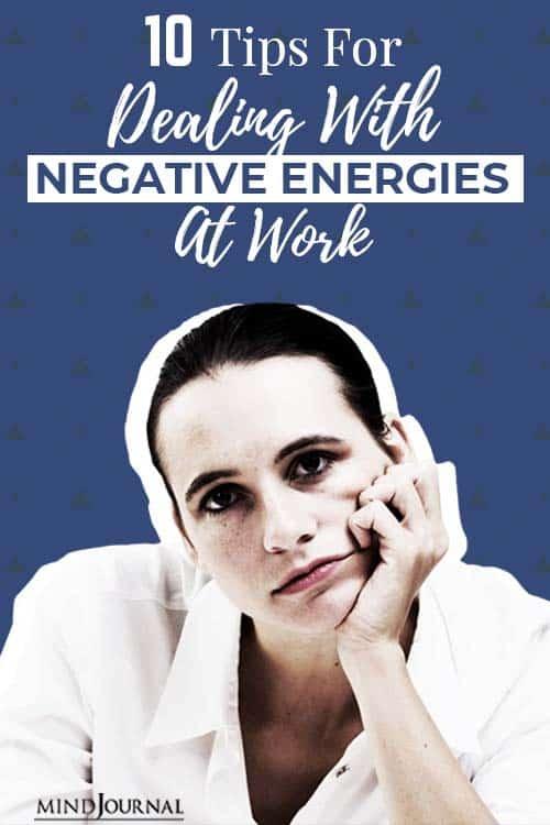 negative energies at work pin