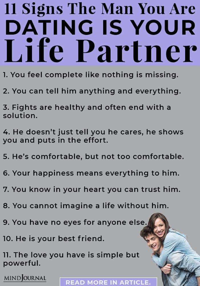signs man dating is life partner info