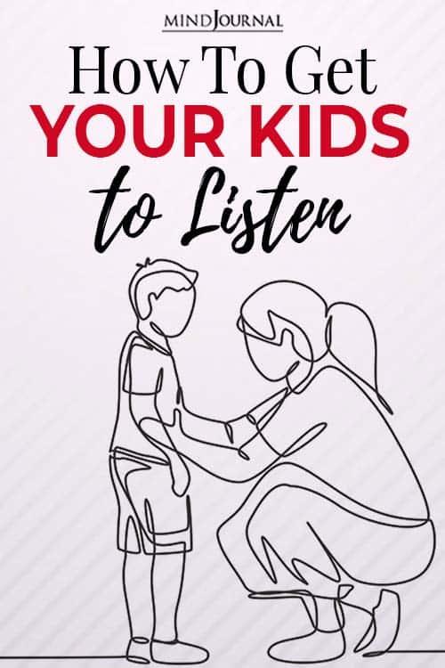 speak kids listen first time pin