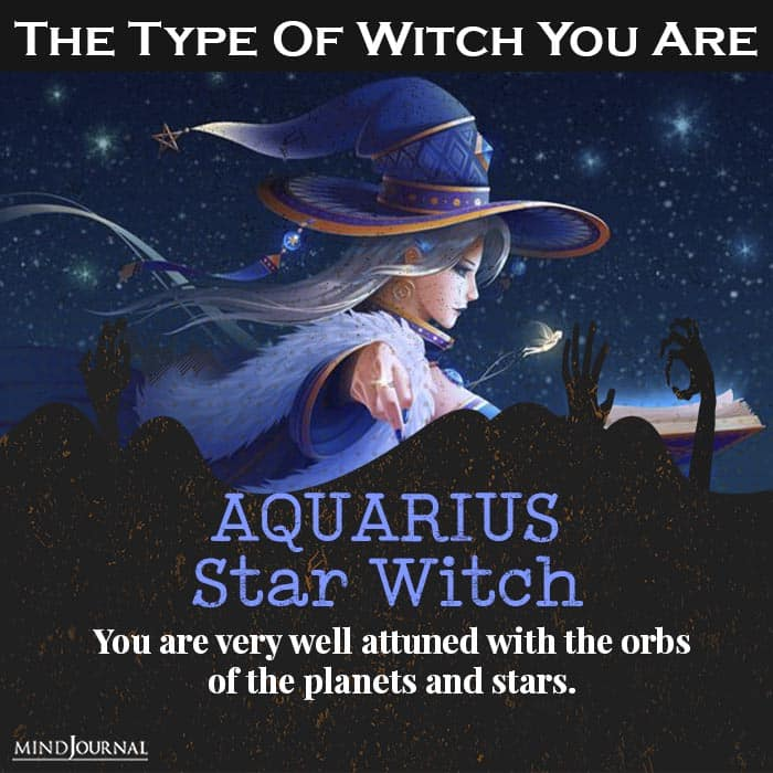 type of witch you are aquarius