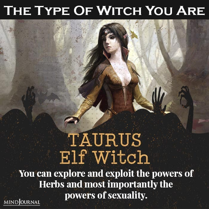 type of witch you are taurus