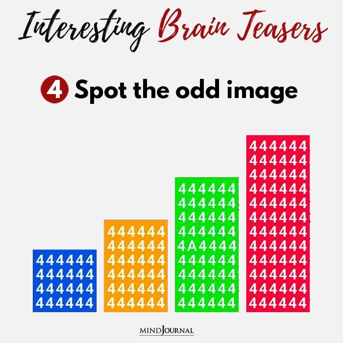 Brain Teasers Know Sharp Eyes Spot the odd image