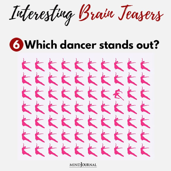 Brain Teasers Know Sharp Eyes dancer stands out