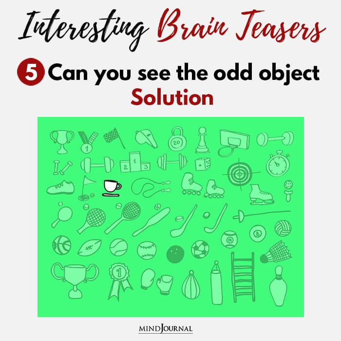 Brain Teasers Know Sharp Eyes see odd object solution