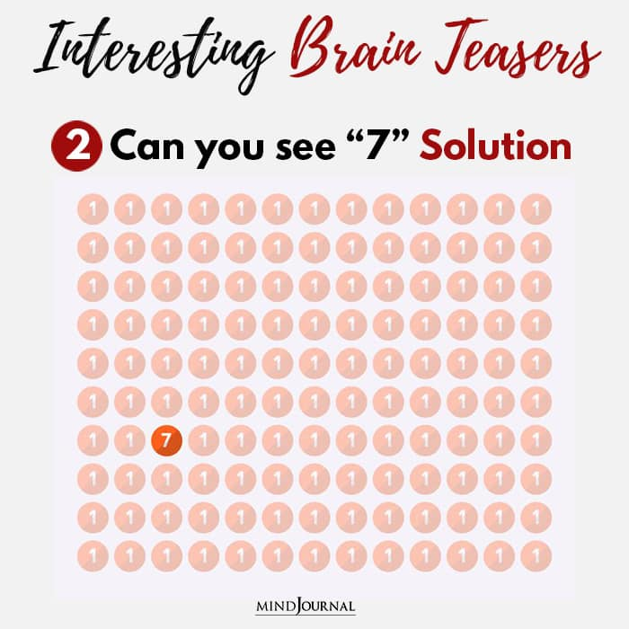 Brain Teasers Know Sharp Eyes see seven solution