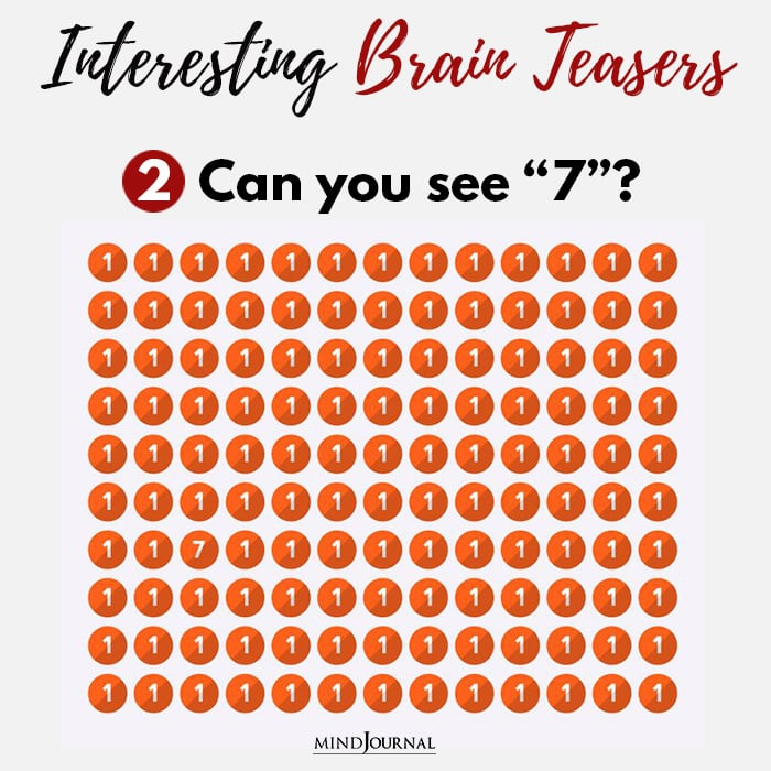 Brain Teasers Know Sharp Eyes see seven