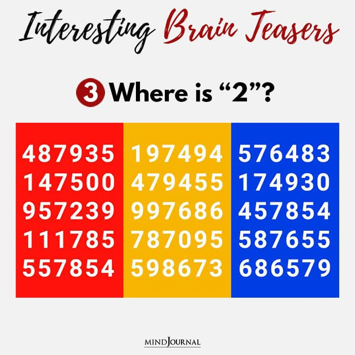 Brain Teasers Know Sharp Eyes where two