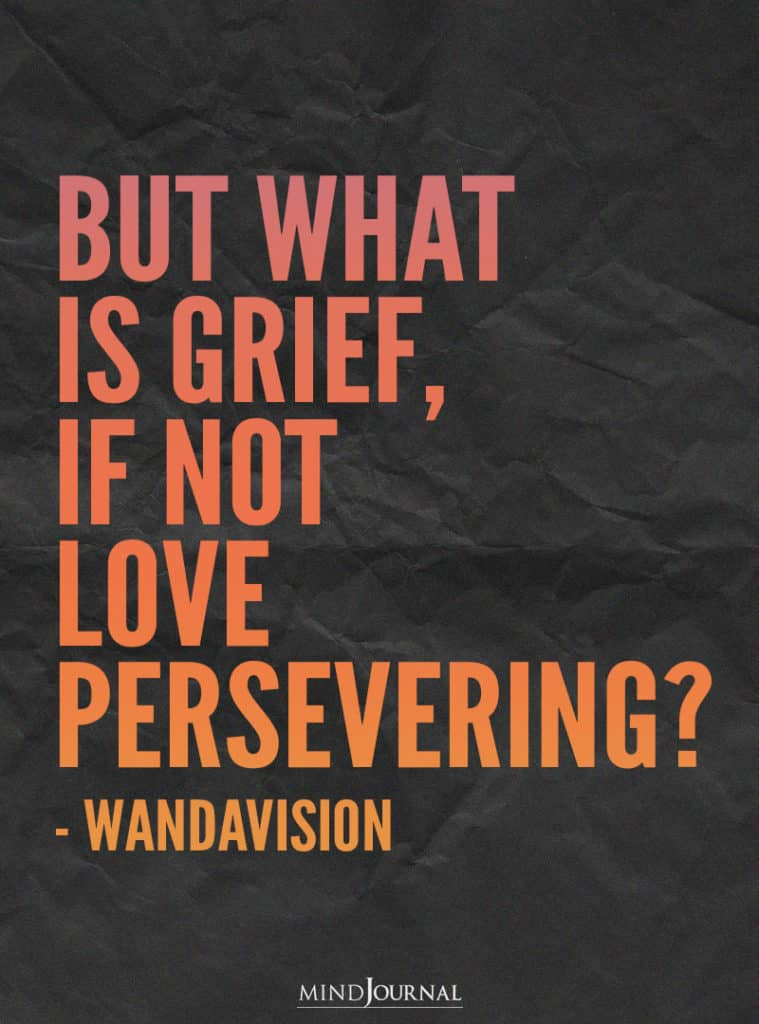 But what is grief, if not love persevering