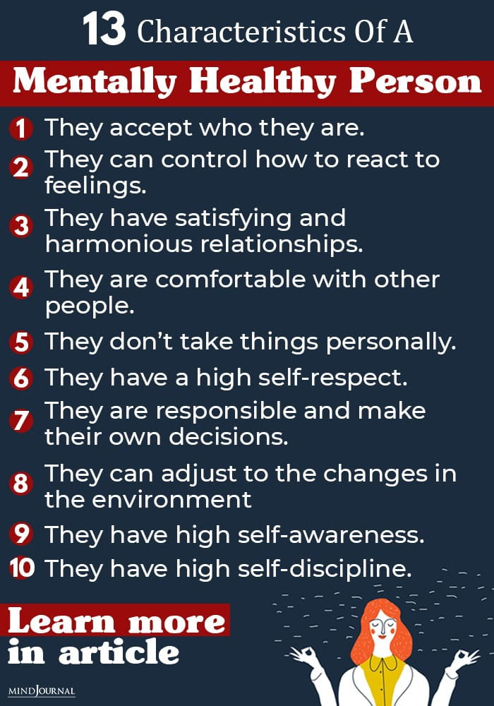 Characteristics  of a Mentally Healthy Person info